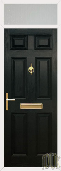 6 Panel Composite Door with Top Light