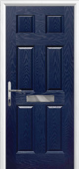 6 Panel Composite Front Door in Blue