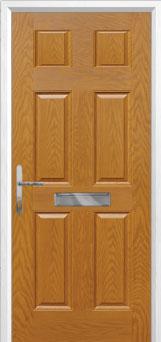 6 Panel Composite Front Door in Oak