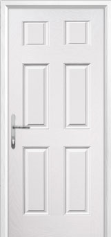 6 Panel Composite Back Door in White