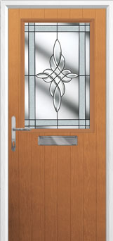 Cottage Half Glazed Crystal Harmony Composite Front Door in Oak