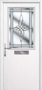 Cottage Half Glazed Crystal Harmony Composite Front Door in White