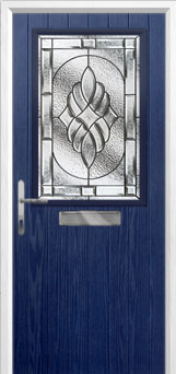 Cottage Half Glazed Elegance Composite Front Door in Blue