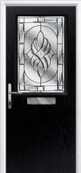 Cottage Half Glazed Elegance Composite Front Door in Black