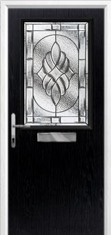Cottage Half Glazed Elegance Composite Front Door in Black