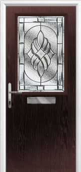 Cottage Half Glazed Elegance Composite Front Door in Darkwood