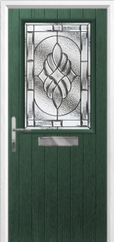 Cottage Half Glazed Elegance Composite Front Door in Green