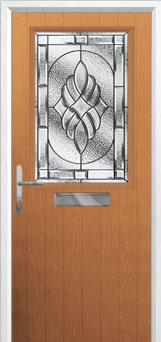 Cottage Half Glazed Elegance Composite Front Door in Oak
