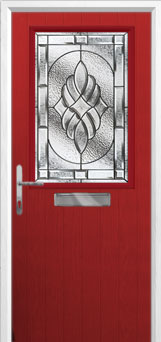 Cottage Half Glazed Elegance Composite Front Door in Red