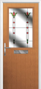 Cottage Half Glazed Fleur Composite Front Door in Oak