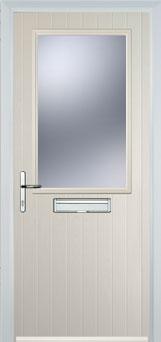 Cottage Half Glazed Composite FD30 Fire Door in Cream