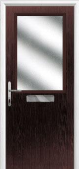 Cottage Half Glazed Composite Front Door in Darkwood
