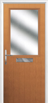 Cottage Half Glazed Composite Front Door in Oak