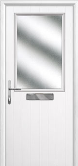 Cottage Half Glazed Composite Front Door in White