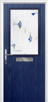 Cottage Half Glazed Murano Composite Front Door in Blue