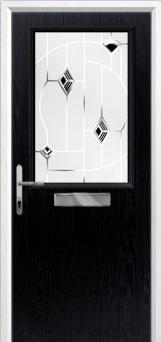 Cottage Half Glazed Murano Composite Front Door in Black