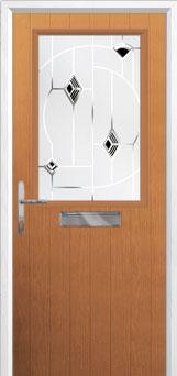 Cottage Half Glazed Murano Composite Front Door in Oak