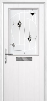 Cottage Half Glazed Murano Composite Front Door in White