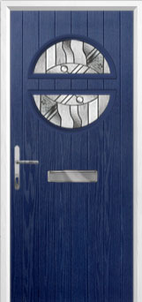 Circle Abstract Composite Front Door in Blue