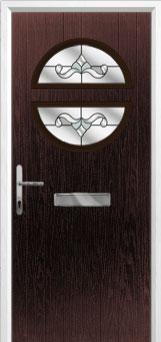 Circle Crystal Bohemia Composite Front Door in Darkwood