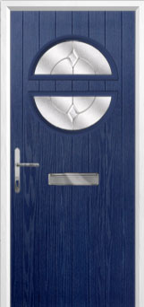 Circle Classic Composite Front Door in Blue