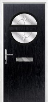 Circle Classic Composite Front Door in Black