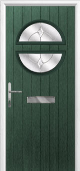 Circle Classic Composite Front Door in Green