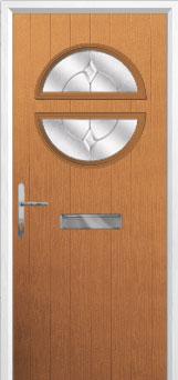 Circle Classic Composite Front Door in Oak