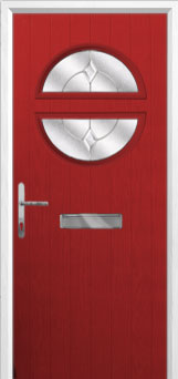 Circle Classic Composite Front Door in Red