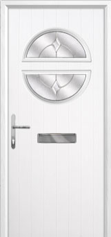 Circle Classic Composite Front Door in White