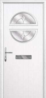 Circle Classic Composite Front Door in White