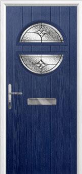 Circle Elegance Composite Front Door in Blue