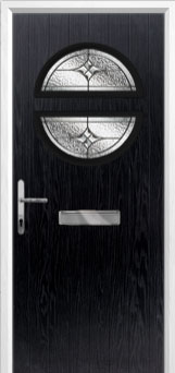 Circle Elegance Composite Front Door in Black