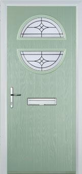 Circle Elegance Composite Front Door in Chartwell Green