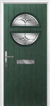 Circle Elegance Composite Front Door in Green