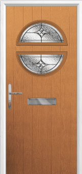 Circle Elegance Composite Front Door in Oak