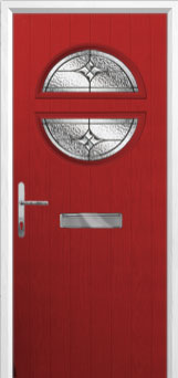 Circle Elegance Composite Front Door in Red