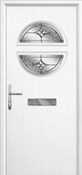 Circle Elegance Composite Front Door in White