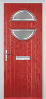 Circle Enfield Composite Front Door in Red