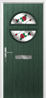 Circle English Rose Composite Front Door in Green