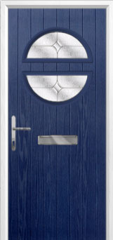 Circle Flair Composite Front Door in Blue