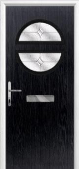 Circle Flair Composite Front Door in Black