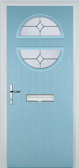 Circle Flair Composite Front Door in Duck Egg Blue