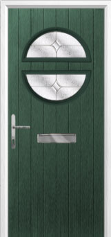 Circle Flair Composite Front Door in Green