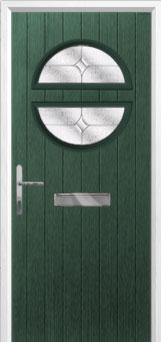 Circle Flair Composite Front Door in Green
