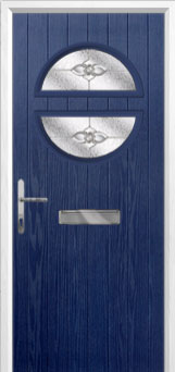 Circle Finesse Composite Front Door in Blue