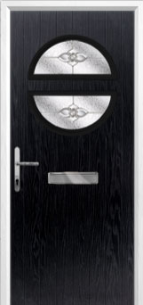Circle Finesse Composite Front Door in Black