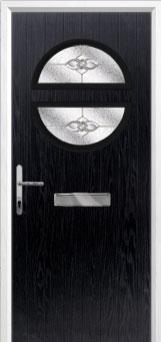Circle Finesse Composite Front Door in Black