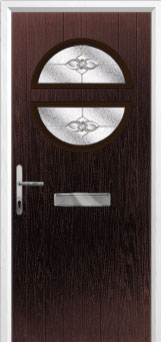 Circle Finesse Composite Front Door in Darkwood