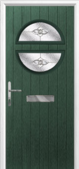 Circle Finesse Composite Front Door in Green